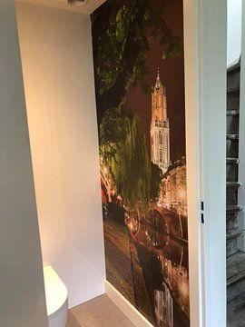 Klantfoto: Utrecht Oudegracht: Domtoren vanaf Oudegracht-Tolsteegzijde van Martien Janssen