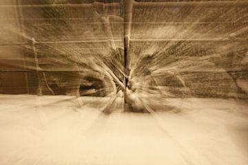 Sneeuwfiets van Paul van der Lugt