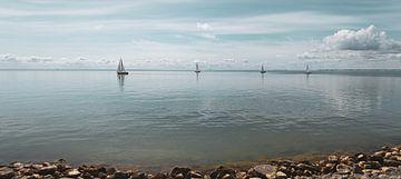 Zeilboten op het IJsselmeer | Noord-Holland | Het waterkeringpad van Marianne Twijnstra-Gerrits