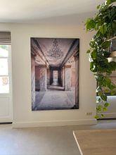 Klantfoto: Lange Gang in Verval. van Roman Robroek, op print op doek