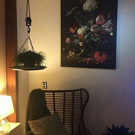 Photo de nos clients: Jan Davidsz de Heem. Vase of Flower sur 1000 Schilderijen, sur toile