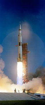 Lancering van een apollo raket van Brian Morgan