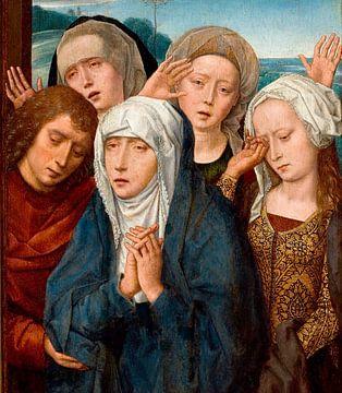 Gemälde, Die Klage der Jungfrau Maria, Der heilige Johannes und die heilige Frau von Galiläa von Atelier Liesjes