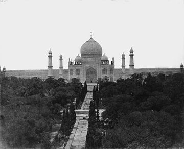 Taj Mahal in India rond 1855 van Atelier Liesjes
