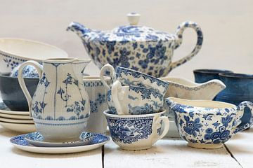 Blaue Geschirr von Barbara Brolsma