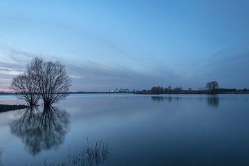Sluis Amerongen en weerspiegeling bomen van Moetwil en van Dijk - Fotografie