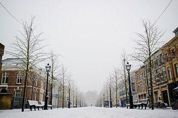Breda - Willemstraat in de sneeuw von I Love Breda