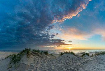 Texel Paal 12 schöner Sonnenuntergang von Texel360Fotografie Richard Heerschap