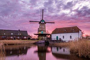 Kilsdonkse molen zonsopkomst brabant van Alfred Benjamins