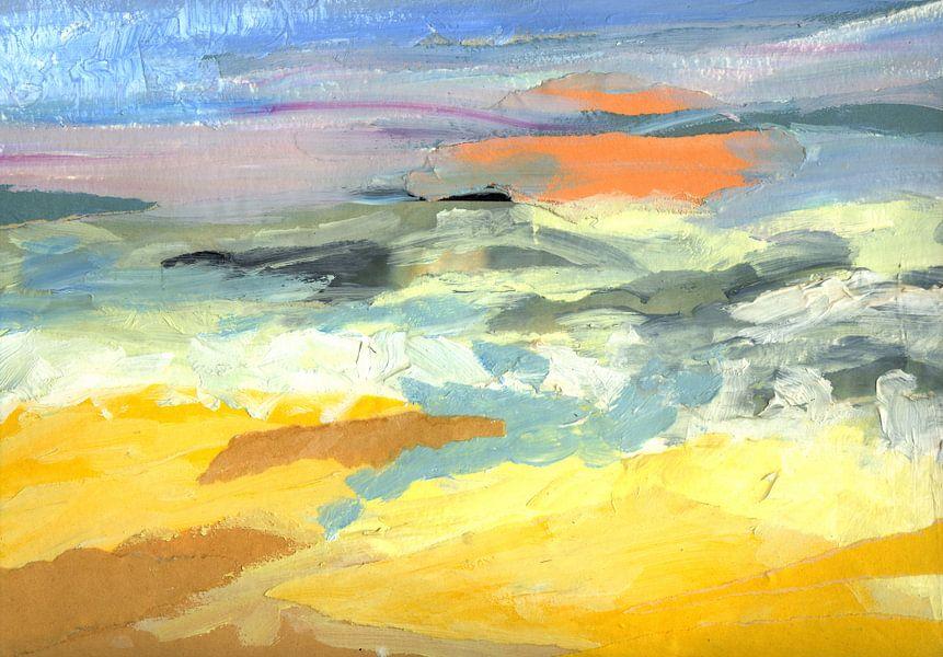Orange Sonne von Yvon Schoorl