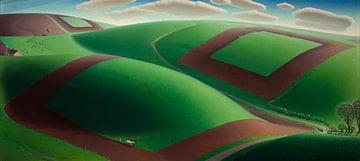 Grant Wood, Der Frühlingsanfang, 1936 von Atelier Liesjes