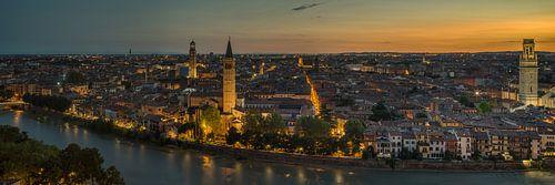 Verona - day transforms into night