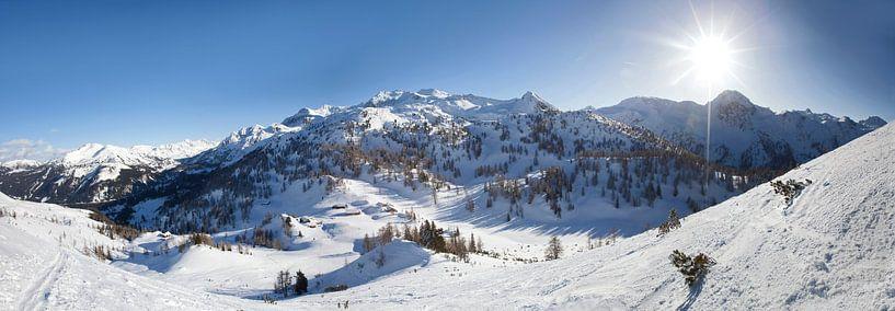 Winterpanorama im Salzburger Land van Christa Kramer