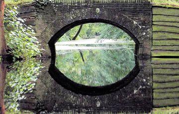 Spiegelende brug. van Il se