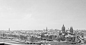 Skyline Amsterdam van Tom Elst