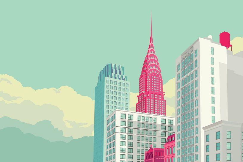 Park Avenue NYC landscape van Remko Heemskerk