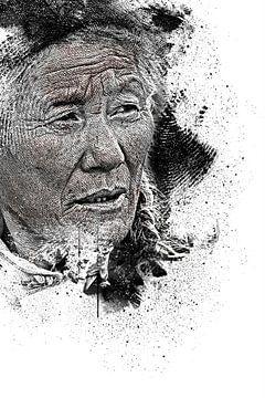 Portrait d'une vieille femme sur Peter Roder