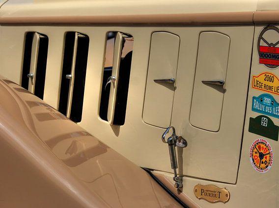 Retro Car Detail van MSP Canvas