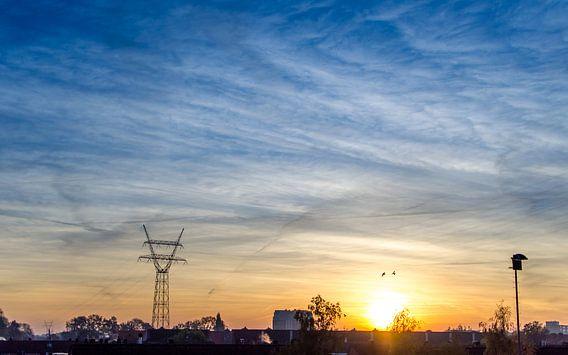 Cloudy morning van Jeffrey de Graaf