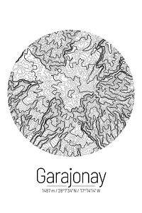 Garajonay | Kaart Topografie (Minimaal)