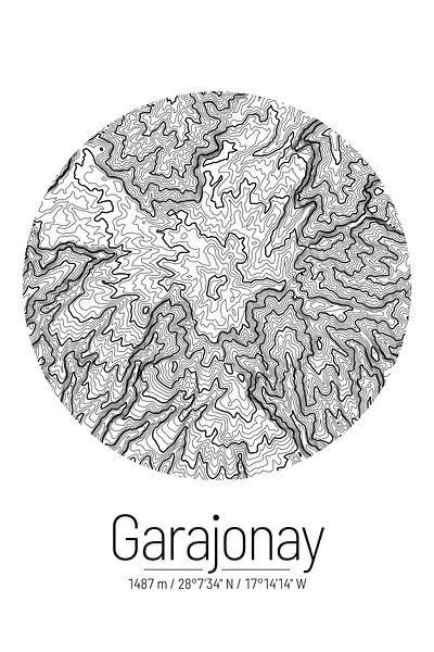 Garajonay | Kaart Topografie (Minimaal) van ViaMapia