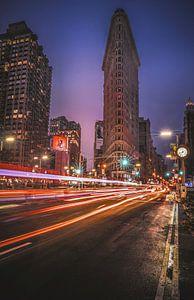Flat Iron Building - lichtsporen