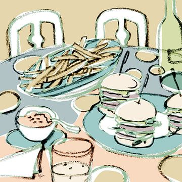 À la table sur Eva van den Hamsvoort