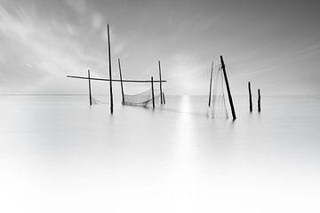 Visnetten zwart wit van Ingrid Van Damme fotografie