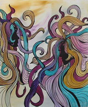 Abstracte kunst - Zusters van Patricia Piotrak