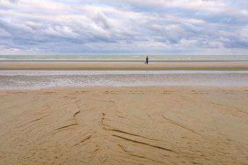 Joggers op het strand van Johan Vanbockryck