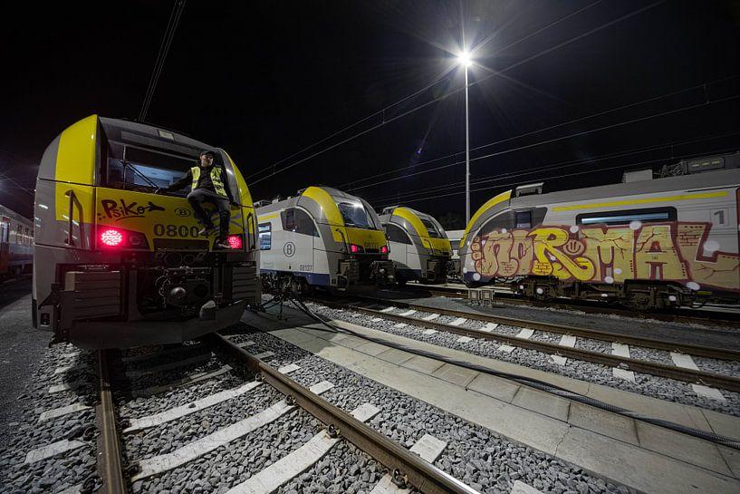Nur ein nomineller Zug mit Zugführer von Siebe Taeleman