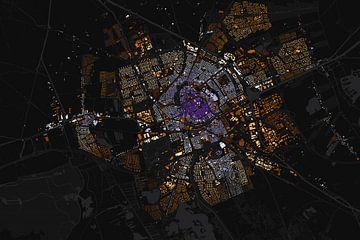 Kaart van Groningen abstract sur Stef Verdonk
