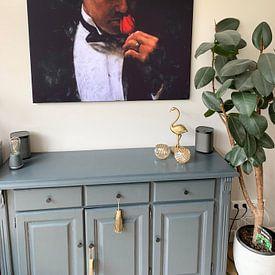 Klantfoto: The Offer - Schilderij Godfather Schilderij 2 | Marlon Brando schilderij 2 van Kunst Company, als print op doek