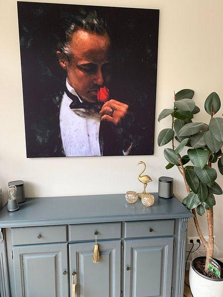 Klantfoto: The Offer - Schilderij Godfather Schilderij 2 | Marlon Brando schilderij 2 van Kunst Company