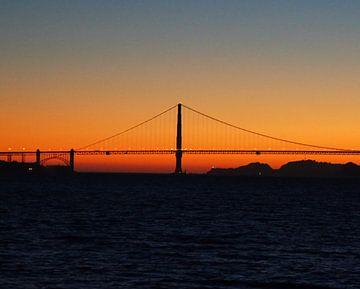 Golden Gate Sunset sur Michiel Heuveling