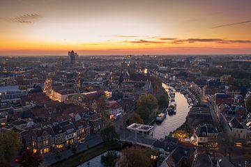 Zwolle van Boven (Thorbeckegracht) von Thomas Bartelds