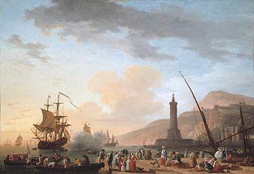 Ein Seehafen bei Sonnenuntergang, Claude-Joseph Vernet