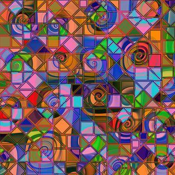 geometrisches Muster 111 von Claudia Gründler