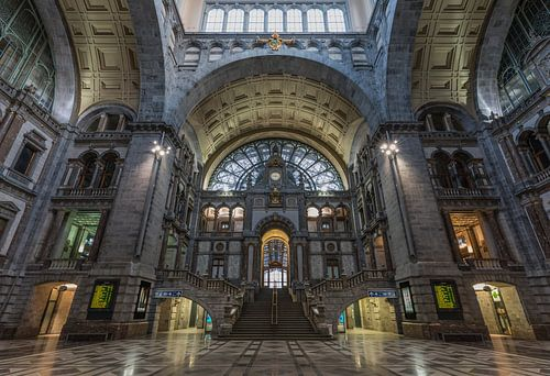 Gare centrale à Anvers sur