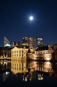 Hofstad met volle maan