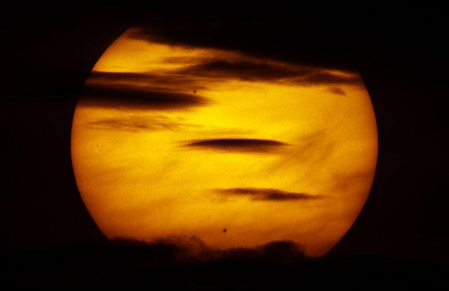 Zon met zonnevlekken van Thomas Spaans