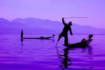Vissers op Inle Lake Myanmar von Wijnand Plekker