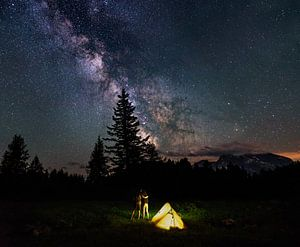 Samen onder de sterrenhemel van