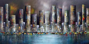 skyline city sur Gena Theheartofart