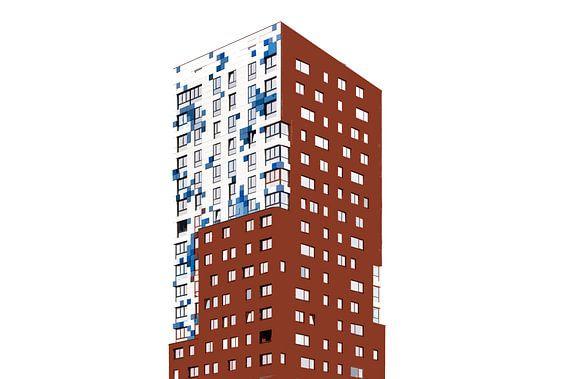 Cut-out foto van Nimbus gebouw in Nijmegen van Maerten Prins