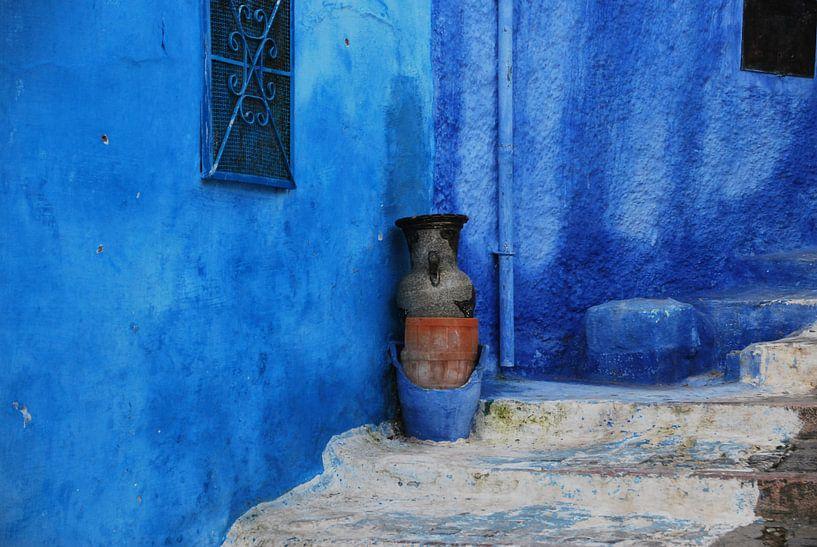 Marokko in blauw  - Chefchaouen van Homemade Photos
