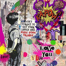 Kapow - Love you - Dadaismus - Hommage Banksy von Felix von Altersheim