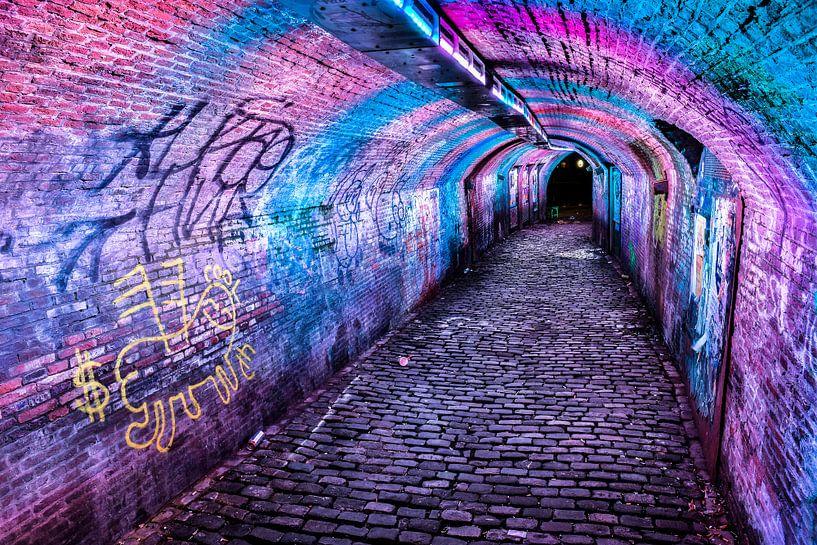 Tunneltje bij de Ganzenmarkt Utrecht van Jeroen Mondria