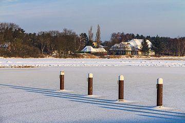 Winter am Prerowstrom mit Schnee von Rico Ködder