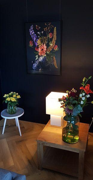 Klantfoto: Royal Flora (gezien bij vtwonen) van Sander Van Laar, op canvas
